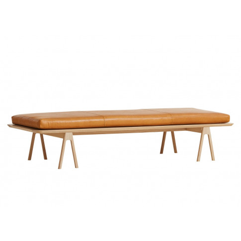Woud Level Daybed Oak Cognac Leather