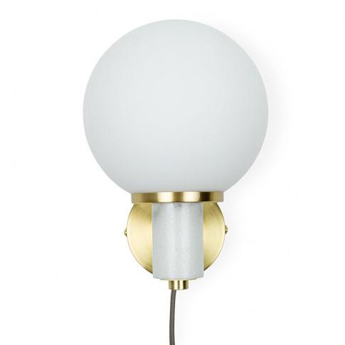 Heal's Globe Wall Light White Marble