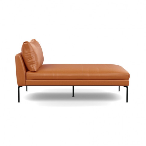 Heal's Matera Chaise Longue Leather Daino Treacle Bl...