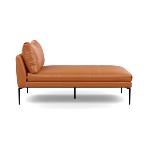 Heal's Matera Chaise Longue Leather Daino Treacle Bl...