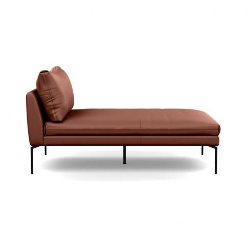 Heal's Matera Chaise Longue Leather Grain Dark Brown...