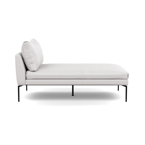 Heal's Matera Chaise Longue Leather Grain White 000 ...