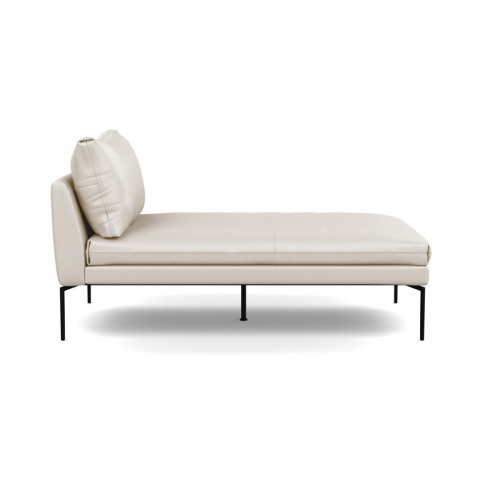 Heal's Matera Chaise Longue Leather Hide Panna 7183 ...