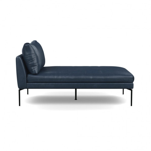 Heal's Matera Chaise Longue Leather Stonewash Navy B...