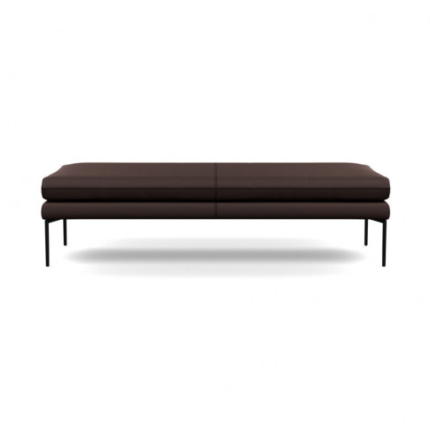 Heal's Matera Bench 160cm Leather Grain Chocolate 06...