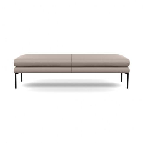 Heal's Matera Bench 160cm Leather Grain Light Grey 0...