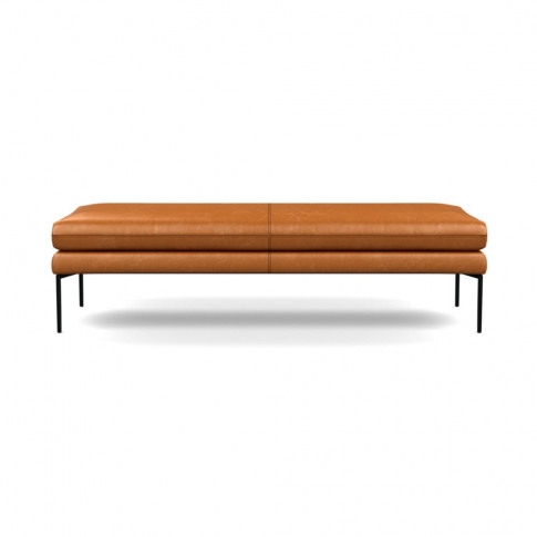 Heal's Matera Bench 160cm Leather Stonewash Toffee 2...