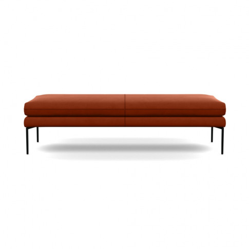 Heal's Matera Bench 160cm Nobilis Velvet Rust Black ...