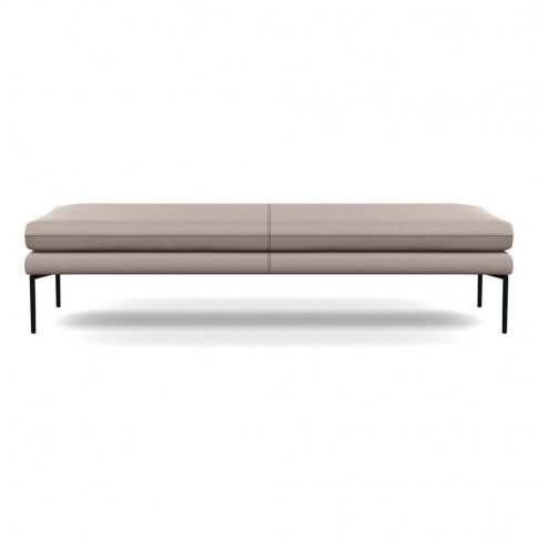 Heal's Matera Bench 180cm Leather Grain Light Grey 0...