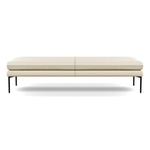 Heal's Matera Bench 180cm Leather Grain Storm 006 Bl...