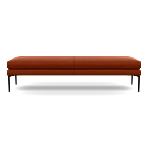 Heal's Matera Bench 180cm Nobilis Velvet Rust Black ...