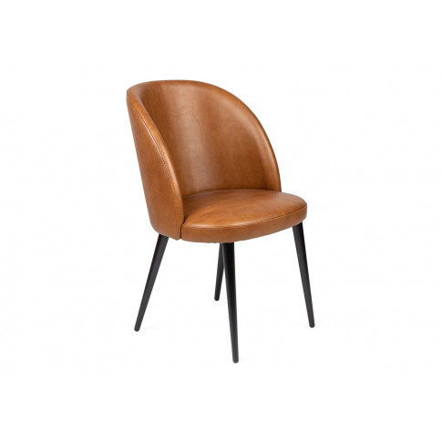 Heal's Austen Dining Chair Tan Leather Black Leg