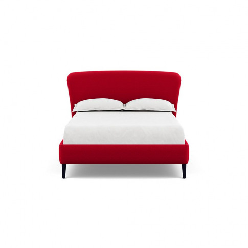 Heal's Darcey Bed Double Melton Wool Red Oxide Black...