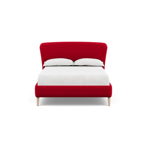 Heal's Darcey Bed Double Melton Wool Red Oxide Natur...