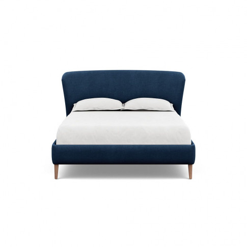 Heal's Darcey Bed King Capelo Linen-Cotton Ink Spot ...