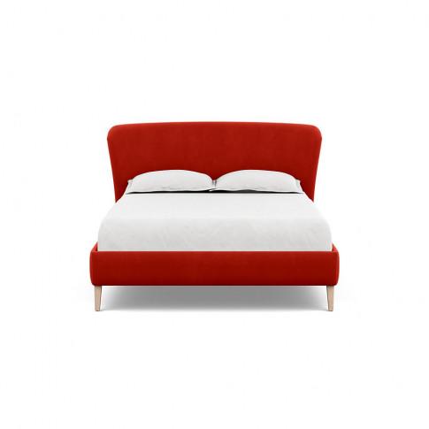 Heal's Darcey Bed King Varese Velvet Terracotta Natu...