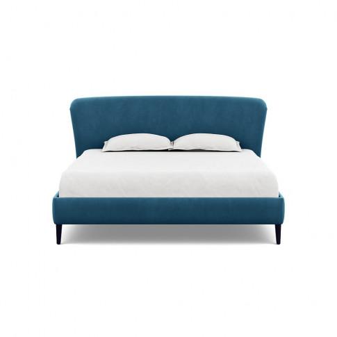 Heal's Darcey Bed Super King Varese Velvet Delft Bla...