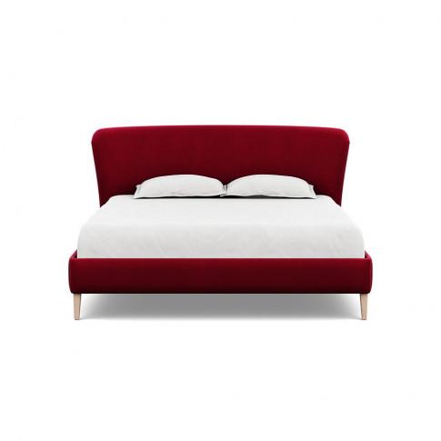Heal's Darcey Bed Super King Varese Velvet Mulberry ...