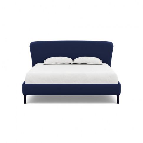Heal's Darcey Bed Super King Melton Wool New Navy Bl...