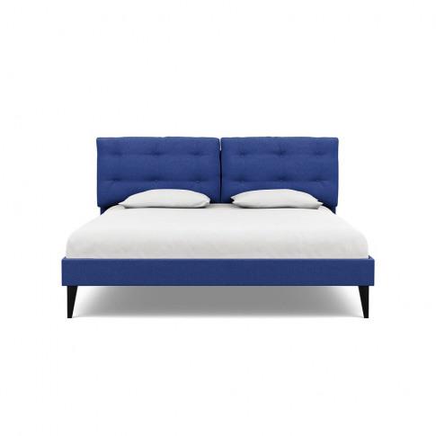 Heal's Mistral Super King Bed Brushed Cotton Cobalt
