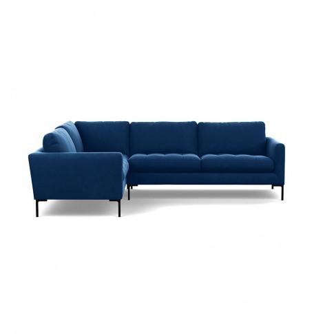 Heal's Eton Left Hand Facing Corner Sofa Velvet Petr...