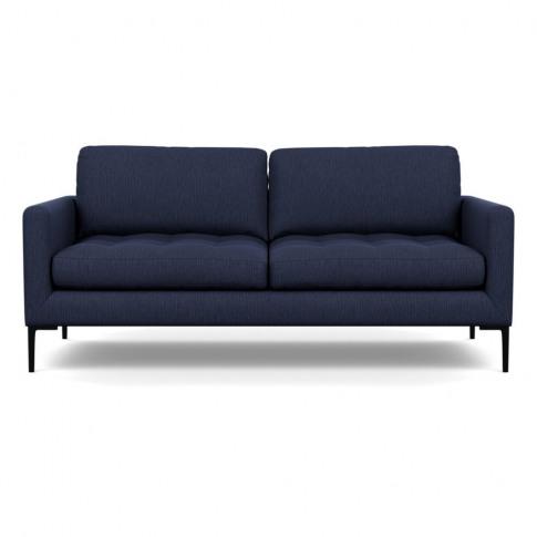 Heal's Eton 3 Seater Sofa Smart Linen Mix Navy Black...