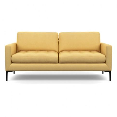 Heal's Eton 3 Seater Sofa Tejo Recycled Ochre Black Feet