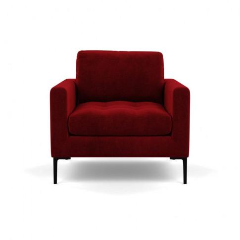 Heal's Eton Armchair Smart Luxe Velvet Mulberry Blac...
