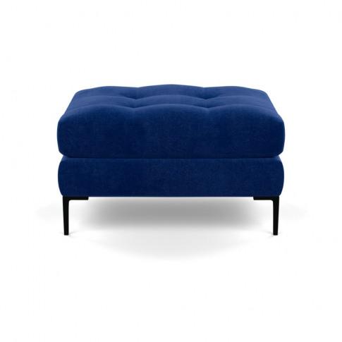 Heal's Eton Footstool Smart Luxe Velvet Azure Black ...