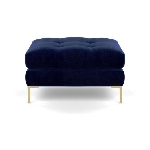 Heal's Eton Footstool Smart Luxe Velvet Midnight Bra...