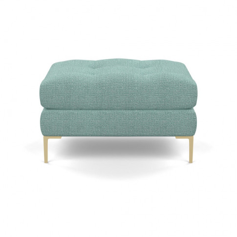 Heal's Eton Footstool Tejo Recycled Teal Brass Feet