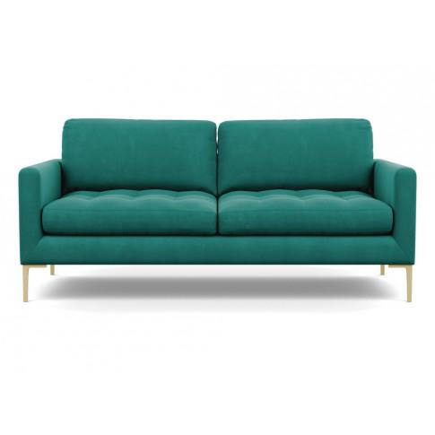 Heal's Eton 3 Seater Sofa Smart Velvet Green Brass Feet
