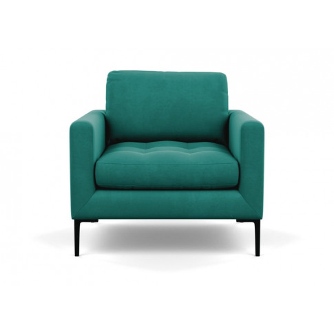 Heal's Eton Armchair Smart Velvet Green Black Feet