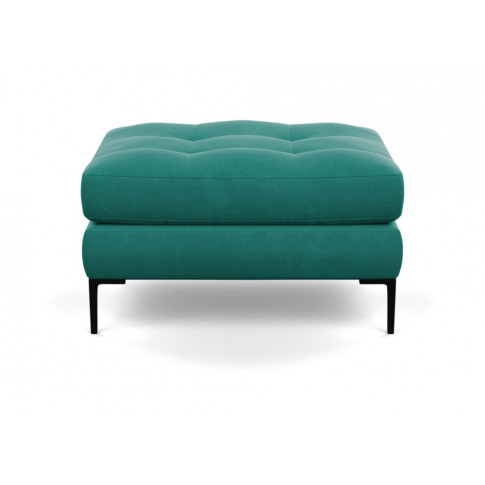 Heal's Eton Footstool Smart Velvet Green Black Feet