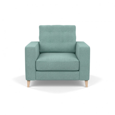 Heal's Mistral Armchair Tejo Recycled Teal Natural Feet