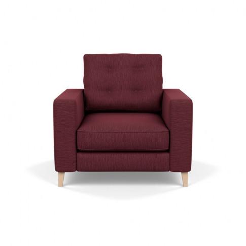 Heal's Mistral Armchair Smart Linen Mix Maroon Natur...