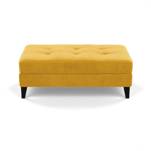 Heal's Mistral Footstool Smart Luxe Velvet Canary Bl...