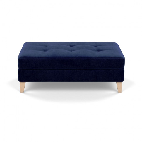 Heal's Mistral Footstool Smart Luxe Velvet Midnight ...