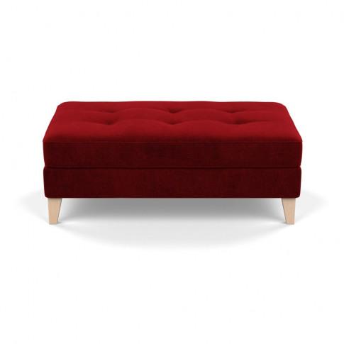 Heal's Mistral Footstool Smart Luxe Velvet Mulberry ...