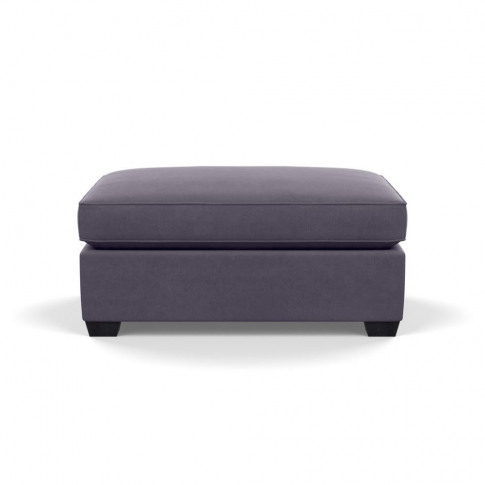 Heal's Torino Footstool Linen Shadow Black Feet