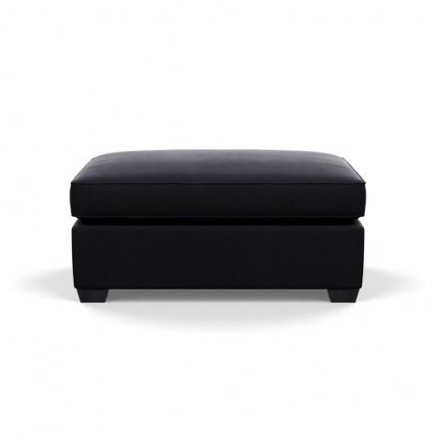 Heal's Torino Footstool Velvet Black Black Feet