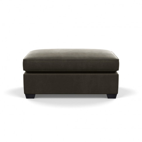 Heal's Torino Footstool Velvet Charcoal Black Feet