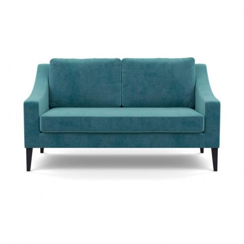 Heal's Richmond 2 Seater Sofa Smart Luxe Velvet Airforce Blue Black Feet