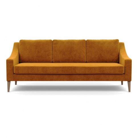 Heal's Richmond 4 Seater Sofa Smart Luxe Velvet Cognac Tinted Ash Feet