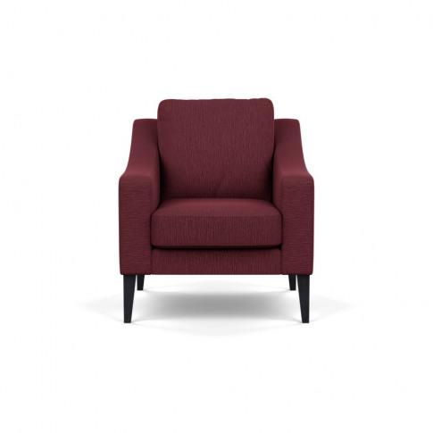 Heal's Richmond Armchair Smart Linen Mix Maroon Blac...