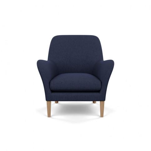 Heal's Wallis Armchair Smart Linen Mix Navy Tinted A...