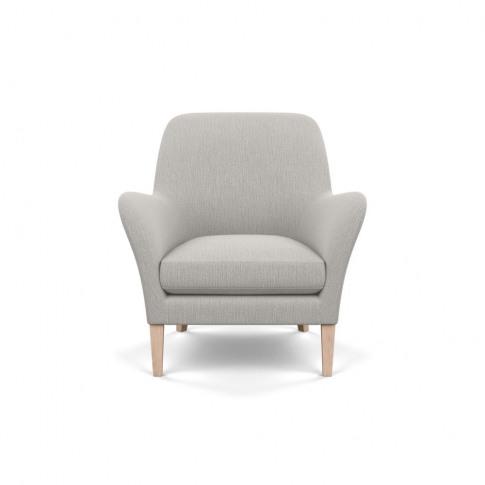 Heal's Wallis Armchair Smart Linen Mix Silver Natura...