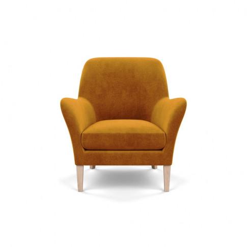 Heal's Wallis Armchair Smart Luxe Velvet Cognac Natu...