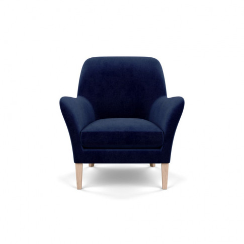 Heal's Wallis Armchair Smart Luxe Velvet Midnight Na...