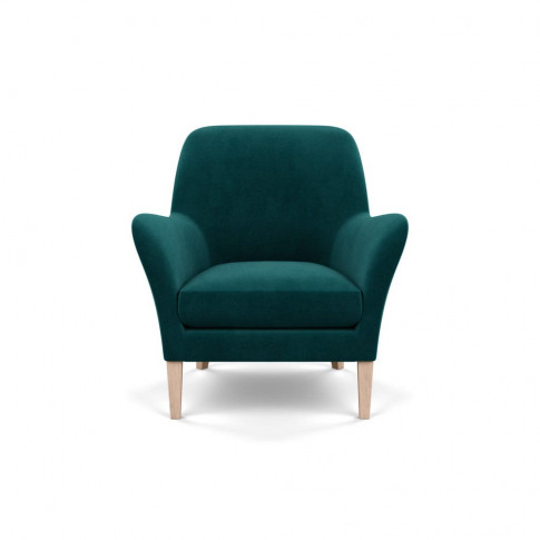Heal's Wallis Armchair Smart Luxe Velvet Ocean Natur...